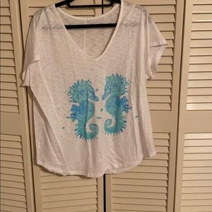Lilly Pulitzer Seahorse T-shirt size L